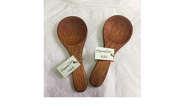 Hand Carved Hawaiian Koa Wooden Spoon