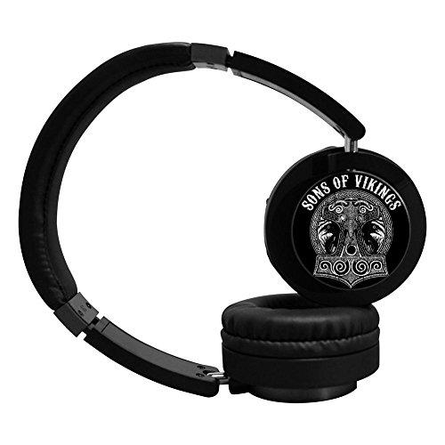(MagicQ New Sons of Vikings Skull Bluetooth Headphones,Hi-Fi Stereo Earphones Headset.)