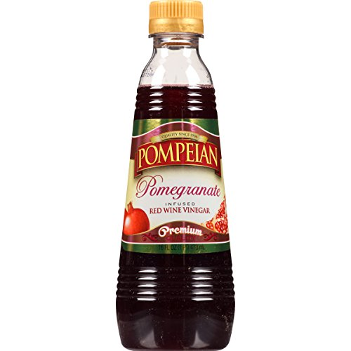 Pompeian Pomegranate Infused Red Wine Vinegar, 16 Ounce (Pack of 6)