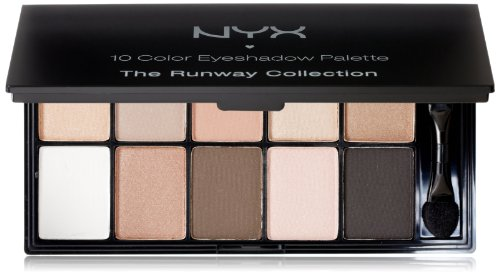 NYX Cosmetics Palette Ombre à Paupières 10 couleurs, Caviar and Bubbles, 0,49 once