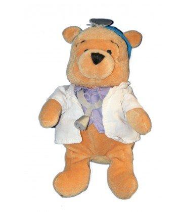 Collector peluche Doudou Winnie the Pooh médico Doctor 20 cm Disney Store