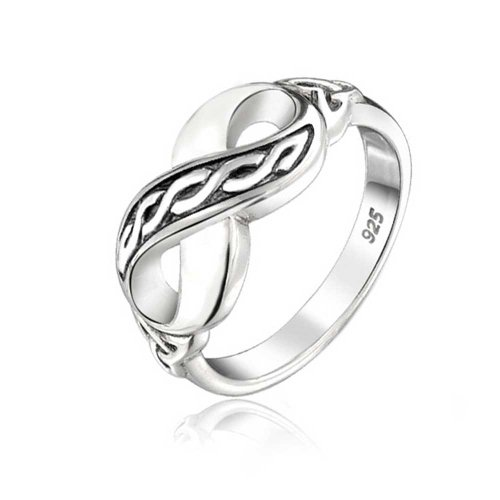Sterling Silver Celtic Figure - Bling Jewelry Triquetra Trinity Knot Celtic Figure 8 Infinity Sterling Silver Ring