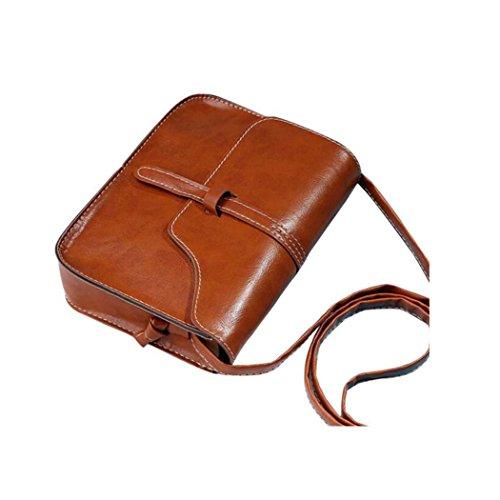 BYSTE Borsa postino Borse a tracolla Borsa messenger Il nuovo Borsa di pelle borsetta Retro Semplice Borsa Attraversare Corpo Spalla Borse del messaggero Mini borsa Marrone