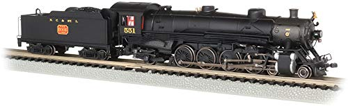 4-8-2 Light Mountain Dcc Sound Value Equiped Steam Locomotive NC & St. Louis #551 - N Scale (N Scale Dcc Steam Locomotives With Sound)