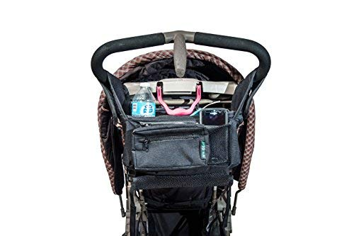 Zip off Pouch Deep Cup Holders Superior Quality Removable Shoulder Strap Best Stroller Organizer for Moms 100/% Lifetime Guarantee! Fits all Strollers Mesh Bag for Extra Storage