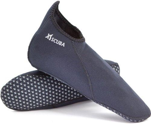 XS Scuba 2mm Neoprene Socks For Full Foot Fins (Mens 9 / Womens 10) Blindstitch Foot