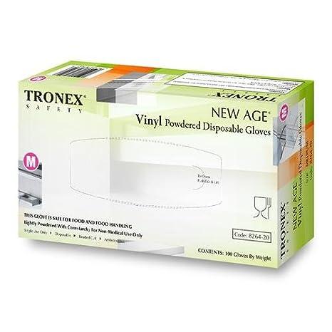 Natural Tronex 8264-20 NEW AGE Powdered Glove Light-Weight M Pack of 1000 1181D99CS Tronex International Inc Vinyl