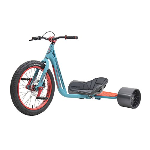 Triad Syndicate 3 Drift Trike Tricycle, Teal/Red