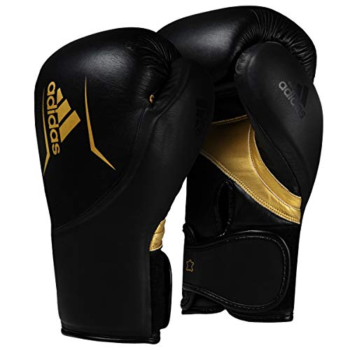 adidas Speed 300.2 Training Gloves, Black/Gold, 16 oz