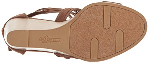Wedge Cognac Sandal Fergalicious Women's Hunter xIXqItAE