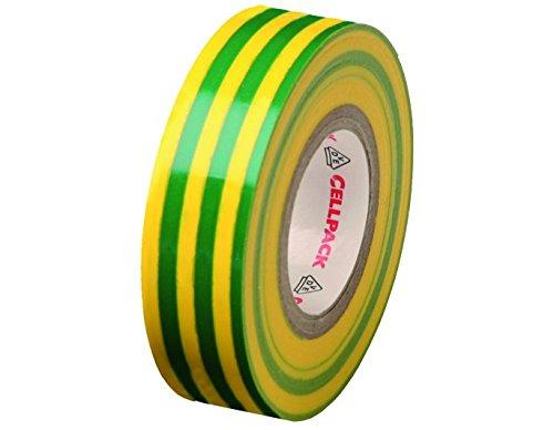 Cellpack 128 Ruban disolation /électrique en PVC vj longueur x largeur x /épaisseur No dimensions 10m x 19mm x 0,15mm
