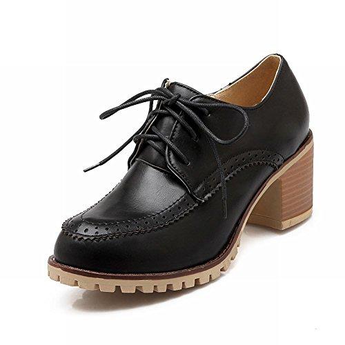 Latasa - Zapatos Ocasionales Con Cordones, Tacones Gruesos, Tacón Medio, Para Mujer