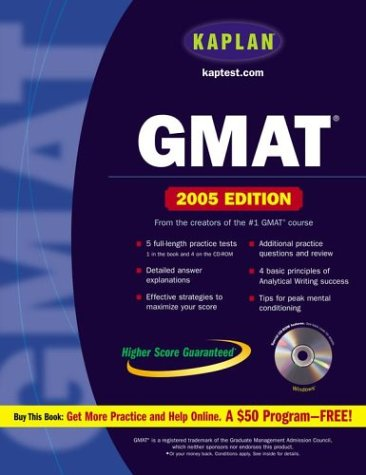 Kaplan GMAT 2005 with CD-ROM (Kaplan GMAT Premier Program (w/CD))
