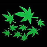 SODIAL(R)Home Decal Glow In The Dark Bedroom Corridor Ceiling Wall Fluorescent Stickers (Maple Leaf)