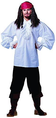 Shirt Deluxe Costumes (Costume Culture Men's Ruffled Shirt Deluxe, White, Standard)