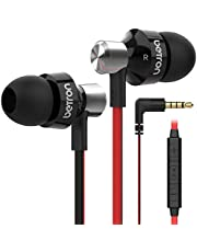 Betron DC950HI Earphone,Noise Isolating Earbuds with Mic and Remote Control, Powerful Bass, Replaceable Earbuds, Portable Headphones, Compatible with iPhone, iPad, Samsung and Tablets, Blac