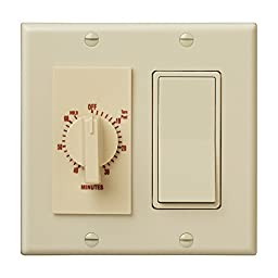 Broan 63V 60-Minute Time Control with 1-Rocker Switch, Ivory