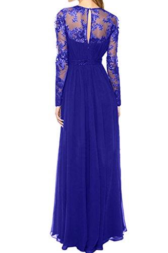 ivyd ressing Mujer Modern largo aermel Cuello En V Vestido De tuell Party Prom vestido fijo para vestido de noche azul real