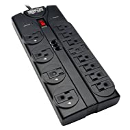 Tripp Lite 12 Outlet Surge Protector Power Strip Tel/Modem 8ft Cord Right Angle Plug (TLP1208TEL)