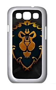LZHCASE Personalized Protective Case for Samsung Galaxy S3 I9300 - Game World of Warcraft Alliance Logo WANGJING JINDA