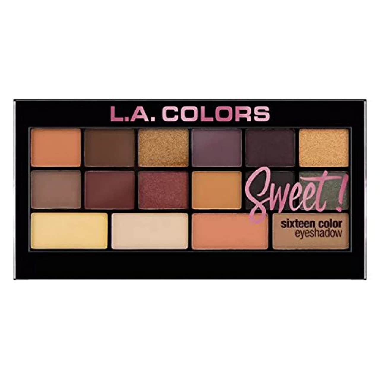 歩く排他的アトミック(3 Pack) L.A. Colors Sweet! 16 Color Eyeshadow Palette - Brave (並行輸入品)