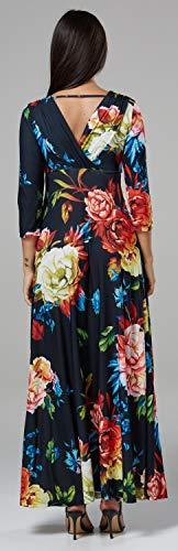 Style Maxi Mutterschaft Chelsea Länge V Damen 586p Clark Ausschnitt 8 Muster Kleid qpEgtvw