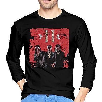 WilliamBurton Cotton Migos Culture II Mens T Shirts Long Sleeve Soft Man Tees Black