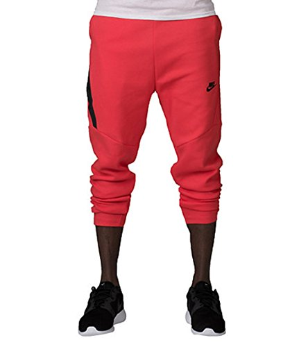NIKE MENS TECH FLEECE CROPPED PANT Red (Cropped Fleece Pant)