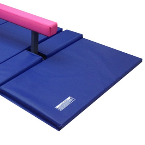 The Beam Store 10 Feet Adjustable Balance Beam and Blue Mat Combo, Pink