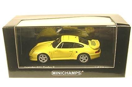 Porsche 911 (993) Turbo S, light yellow, 1998, Model Car,