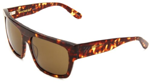 Sabre Madness SV34-81-3 Square Sunglasses,Matte & Gloss Tortoise Frame/Bronze Lens,One Size