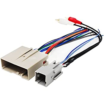 41KR6ISLKYL._SL500_AC_SS350_ amazon com replacement radio wiring harness for 2005 ford escape Ford Factory Radio Wiring Harness at eliteediting.co