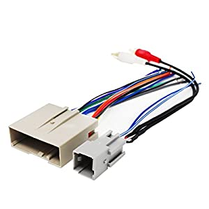 41KR6ISLKYL._SY300_ amazon com replacement radio wiring harness for 2004 ford Chevy Wiring Harness for 1999 Sierra Door at edmiracle.co