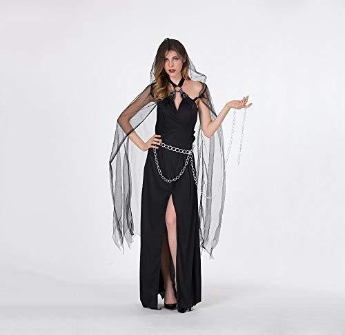 Ambiguity Cosplay Costume Ladies Halloween Dress Spider Web Queen Dress ()