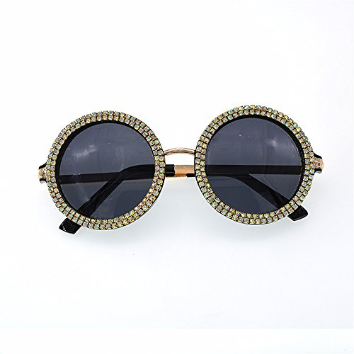 soleil Baroque Rétro Défilé lunettes de Personnalité femmes de Lunettes Style la pour unisexe rondes Lunettes Style p rétro élégant mode de Plage soleil Cristal de de Pour les Lunettes soleil soleil aqz78