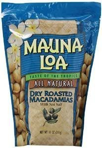 (Mauna Loa Dry Roasted Macadamia Nuts 2 Bags 11oz each)