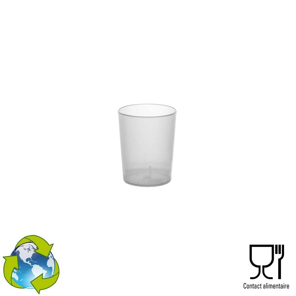 Givr/é en Plastique Polypropyl/ène Rigide 4cl GOBELET CUP 100 Shots R/éutilisables
