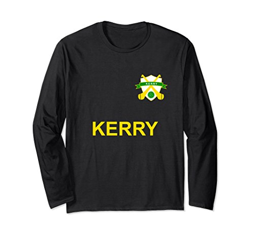 Unisex County Kerry Gaelic football sports Jersey Large Black