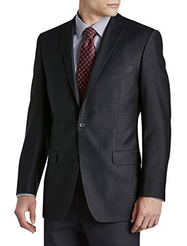 Michael Kors Big and Tall Birdseye Suit Jacket Charcoal ()