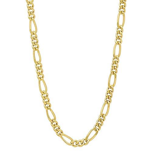 Gold Plated Miami Figaro Chain
