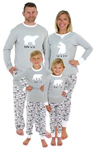 Sleepyheads Holiday Family Matching Polar Bear Pajama PJ Sets - Infant - Grey Top (SHM-4038-I-0-3M)
