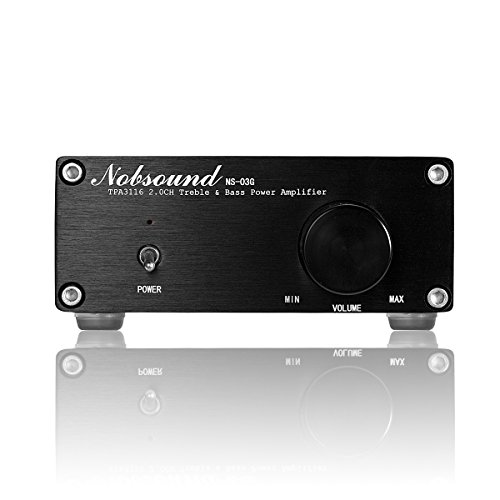 Nobsound Mini Dual TPA3116 Digital Power Amplifier HiFi Stereo Amp Audiophile-Grade 2.0 Channel 100W×2 NE5532P Pre-Amp (Black) by Nobsound (Image #4)