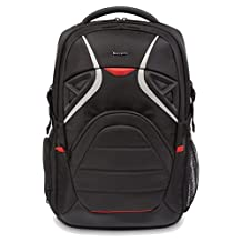 Targus Strike Gaming Backpack for up to 17.3-Inch Laptops and Consoles, Black/Red (TSB900CA)