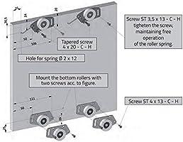GTV Kit de Sistema de Engranaje para Puerta corredera de Armario – Mito – 2000 mm, 2500 mm o 3000 mm, Kit for 2 Doors with Track 2000mm: Amazon.es: Hogar