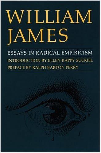 Essays in radical empiricism amazon