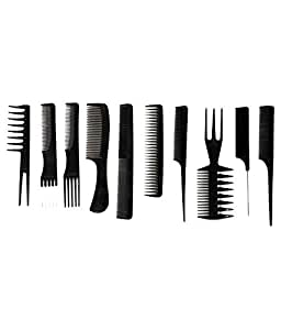 Out Of Box Professional Cutting and Styling Comb Kit - Set of 10