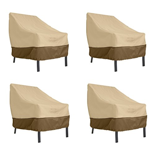 - Classic Accessories Veranda Patio Lounge Chair Cover, Large (4-Pack)