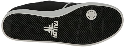 FALLEN Skateboard Shoes THE VIBE FLAT BLACK/NEWSPRINT GRAY SANDOVAL Sz 8