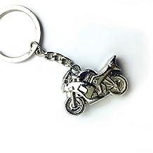 HK MOTO- Metal Motorcycle Key Ring Keychain Creative Gift Sports Keyring Chrome