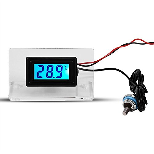 Yosoo Computer Temperature Detector, PC Water Cooling Temperature Detector Digital/Dial Thermometer LCD Screen Frame Kit (Digital Thermometer) ()